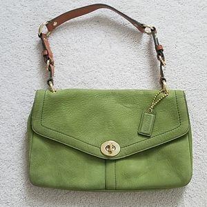 Coach Genuine Leather green bag in EUC!